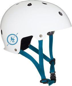 K2 Erwachsenen Inliner Skateboard Helm Varsity Helmet weiß blau, Größe:S