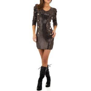 Ital-Design Damen Kleider Cocktail- & Partykleider Bronze Gr.s