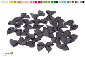 Satinschleifen 25mm, 20 Stück, Farbe:grau / anthrazit 080