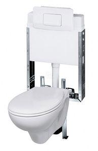 Ceravid, Wand WC Tiefspüler inkl. Unterputz Spülkasten 3/6 Liter im Set, hänge WC, C73000000
