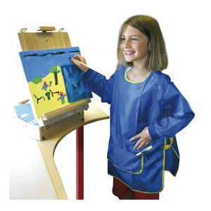 EDUPLAY 240-009 Malkittel für Kinder, Universalgröße aus 100 % Polyester, blau (1 Stück)