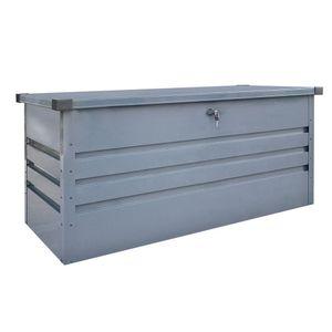 HOME DELUXE - Metallaufbewahrungsbox MEGABOX XXL 600L Aufbewahrung Gartenbox Staubox