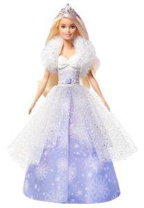 Barbie Dreamtopia Fashion-Prinzessinnen-Puppe, ca. 30 cm groß, blond mit pink gesträhnter Haarpartie