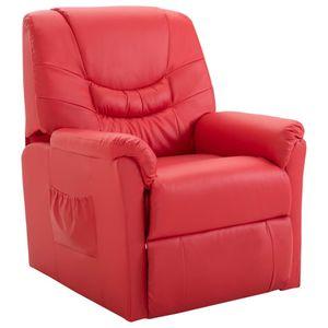 Moderne - Liegesessel Relaxsessel TV-Sessel Rot Kunstleder