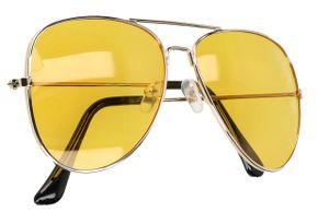 Nachtsichtbrille Nachtfahrbrille Blendschutz zum Autofahren Polarisiert Retro Pilotenbrille