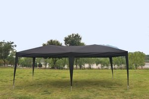 Kronenburg Faltpavillon WASSERDICHT Pavillion Gartenzelt Dachmaß 3x6m UV-Schutz schwarz