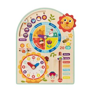 Tooky Toy Kalenderuhr Jahresuhr - Kinder-Spielzeug Holz-Spielzeug Lern-Spielzeug