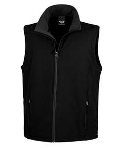 Herren Soft Shell Bodywarmer / Wasserabweisend, atmungsaktiv - Farbe: Black/Black - Größe: XL