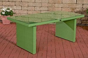 CLP Tisch Avignon, Farbe:grün, Größe:180 cm