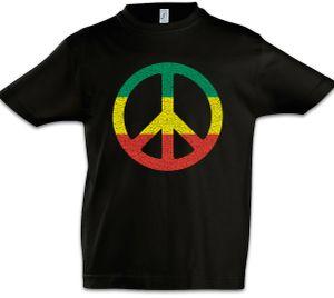 Rastafari Peace Sign Kinder Jungen T-Shirt, Größe: 4 Jahre