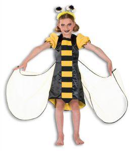 L3101050-116 schwarz-gelb Kinder Bienen Kleid Schmetterling Kostüm Gr.116