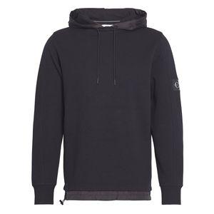 Calvin Klein Jeans Sweatshirt Mixed Media Nylon Hoodie