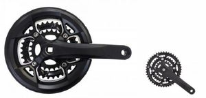 Prowheel kurbelgarnitur Flint 22-32-42T 175 mm Alu/Stahl schwarz