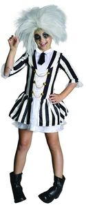 Beetlejuice Kostüm, Mädchen, Größe:L