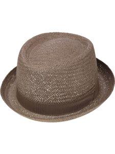 Sehr leichter Pork Pie Hut in 2 Farben, Kopfgröße:57, Farben:schlamm