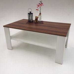 Möbel SD  Couchtisch Bea Nussbaum Optik Weiß