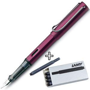 LAMY AL-Star Black Purple Füllhalter 29 M + 5 Tintenpatrone schwarz