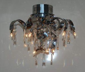 Deckenleuchte MAXIME moderne Lampe Kristall / Chrom Deckenlampe : 42cm