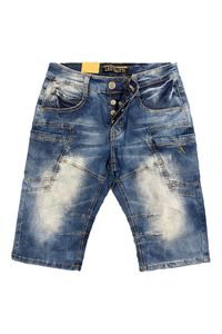 Herren Jeans Shorts Kurze Sommer Jeans Hose 5-Pocket, Farben:Blau, Größe Shorts:34W