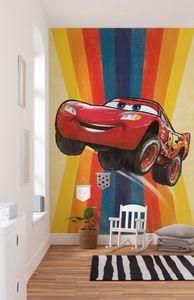 "Komar Vlies Fototapete ""Cars Jump"" - Größe: 200 x 280 cm (Breite x Höhe) - 4 Bahnen"