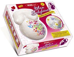 WUNDmed - Mein Babybauch babyshower - Gips Bastelset für schöne 3D-Erinnerungen