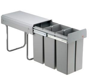 Wesco Küchen Mülleimer, Einbau 30 cm Schrank, 3-fach Abfalleimer