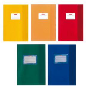 20 Herlitz Heftumschläge / DIN A5 / Baststruktur / 5 verschiedene Farben