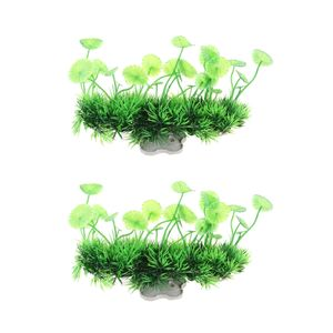 2 Stücke Künstliche Wasserpflanze Gras Aquarium Dekoration