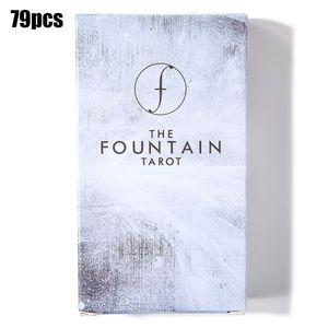 79 Stück The Fountain Tarot: Illustrated Deck und Guidebook Familie Party Spiel Kartenspiel Tarotkarten