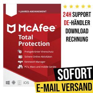 McAfee Total Protection 2021 | 5 Geräte | 1 Jahr | Vollversion | Versand per E-Mail
