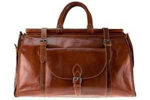 Alpenleder Casablanca, Braun, Reisen, Leder, Einfarbig, Fronttasche, Seitentasche, 550 mm