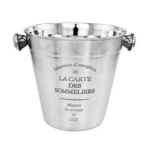 EISEIMER 14cm Edelstahl Eisbehälter Sektkühler Eiswürfel Eiswürfelbehälter 74