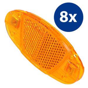 mumbi 8x Katzenaugen Speichen Reflektoren Fahrrad Speichenreflektoren orange StVZO