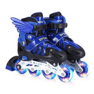 Inline Skates für Kinder Rollschuhe Einstellbare Größe 2732  Mädchen Junge DE