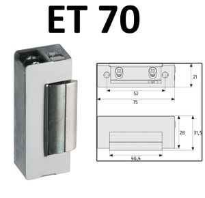 ABUS Elektrischer Türöffner ET 70/75/80/85 12V AC Elektro Schloss elektrisch Öffner Sicherheitstür ET70 EK