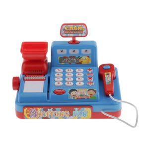 Kinderkasse mit Sound Scanner Kaufmannsladen Spielkasse Registrierkasse Blau Multifunktion Simulationsspielzeug wie beschrieben