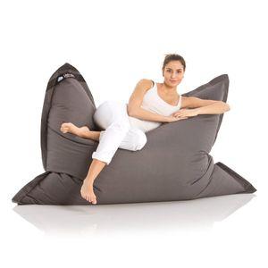 Original LAZY BAG Indoor & Outdoor Sitzsack XXL 400L Riesensitzsack Sitzkissen Sessel für Kinder & Erwachsene 180x140cm - Dunkelgrau