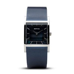 BERING moderne Uhr für Damen Edelstahl blau 10426-307-S