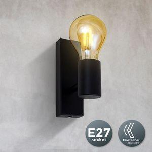 Wandleuchte I Retro Wandstrahler I Vintage Wandlampe I exkl. max. 60W E27 Leuchtmittel I schwarz I Wandspot I B.K.Licht