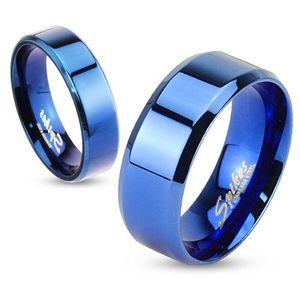 Damen Herren Ring Edelstahl Partnerring Ehering Verlobungsring Bandring blau 64 - Ø 20,57 mm 8 mm