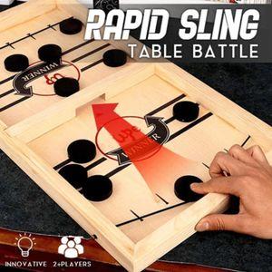 Spieltische,Stoßfänger Schach,Tisch Eishockey , Airhockey Schnelles Sling Puck Spiel
