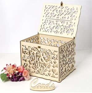 Pro DIY Kartenbox Hochzeit Glückwunschkartenbox Briefbox Geschenkkartenbox