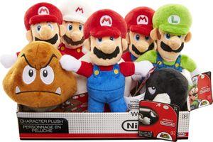 Mario Bros. Plüschfiguren,sort.i.Display a 8 Stk,