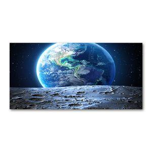 Tulup® Acrylglas - 140 x70 cm - Bild auf Plexiglas Acrylglas Bild - Dekorative Wand für Küche & Wohnzimmer  - Weltall & Science-Fiction - Planet Erde - Blau
