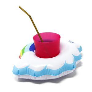 Oblique Unique 5x Schwimmende Regenbogen Wolke Getränkehalter aufblasbar Pool Badespielzeug