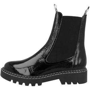 Tamaris Damen Chelsea Boot schwarz strukturiert 1-1-25455-25 normal Größe: 40 EU