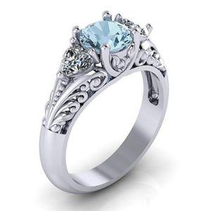 Saphir Verlobungsring Kreativer Paar Ring