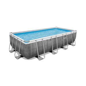 Bestway Power Steel™ Frame Pool Komplett-Set, eckig, 488x244x122cm, 56996
