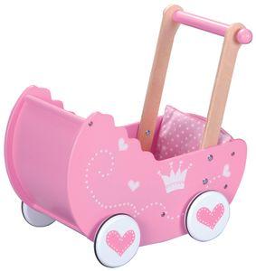 Sky-blue 30017  Holz - Puppenwagen / Kinderwagen mit Bettwäsche