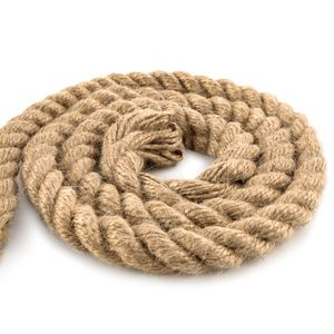 Juteseil Juteschnur gedreht ø 20 mm 10 m - Bastelschnur Kordel Natur Dickes Seil für Maritime Dekoration Jutekordel Tau